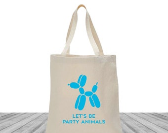 Welcome Bags, Tote Bags, Wedding Bags, Custom Totes, Bachelorette Tote Bags, Custom Canvas Bags, Event Totes, Let's Be Party Animals, 1451