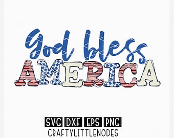 4th of July, memorial day, independence day, America, svg, shirt design, png, dxf, God Bless, red white and blue, stars and stripes, dxf