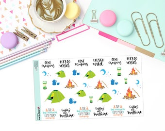 CAMPING Paper Planner Stickers!