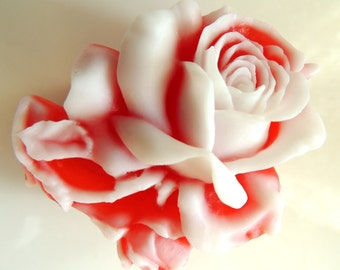 SMALL BLOOMING ROSE Soap, Set of 2, Valentine's Day Gift, For Her, Flower Soap, For Mom, Birthday Gift