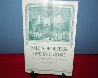"Vintage Program ""Metropolitan Opera House"" - Aida - 1935"
