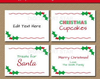 Printable Christmas Ornament Name S The Template Can Also Be For Creating Items
