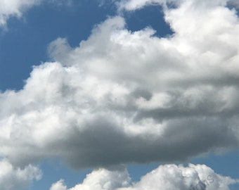 Blue Sky with Clouds Photograph, Digital Print, Digital Photography