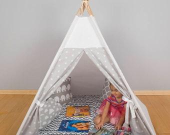 Kids Wigwam, Tipi Tent, Kids Teepee, Childrens fabric Teepee Tent For Kids, Kids Teepee Tent, Play Teepee, Canvas Teepee cave play zone