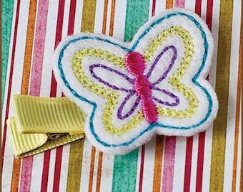 Hair Clip Felt - Yellow Butterfly