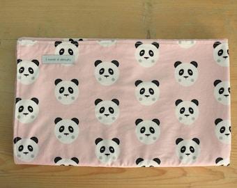 Cotton and fleece cover Minky-Panda Pink