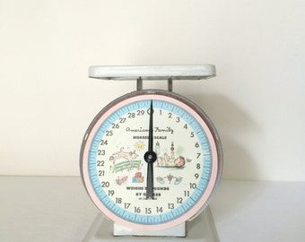 Baby Scale American Family Nursery Scale Decorative Metal Scale
