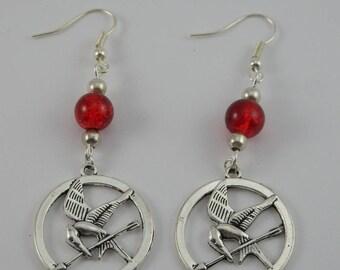 Hunger Games red earrings