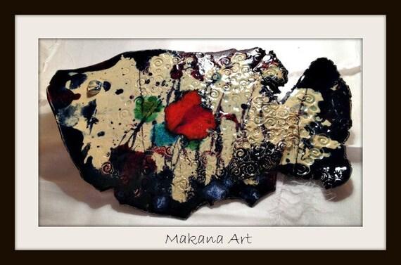 OOAK Pottery Fish by Makana Art Studio - pottery gifts - handmade gifts - housewarming gift ideas - engagement gift ideas