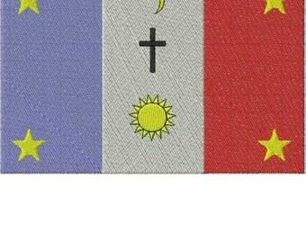 Yaqui Native American Flag Embroidery Design