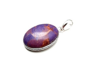 Purple Copper Turquoise Interchangeable Pendant