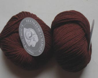 5 skeins fifty chocolate Merino 756 textile brand