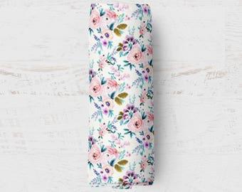 Organic Swaddle Blanket Victorian Floral. Floral Organic Blanket. Baby Swaddle. Newborn Swaddle. Gauze Blanket. Floral Blanket.