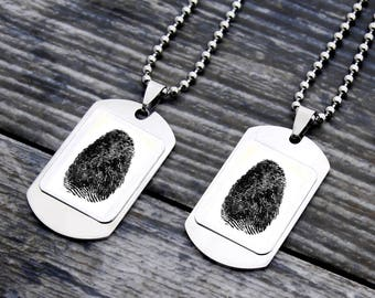Finger print necklace, personalized couple necklace, couples keepsake necklace, baby finger print necklace, personalized fingerprint, finger