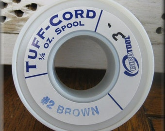Tuff-Cord - Size #2 Brown Approximately 195ft