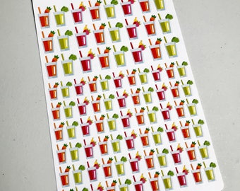 Smoothie / Juice Planner Stickers for the Erin Condren Planner & Many other planners