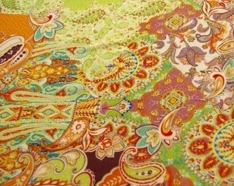 Paisley Print Georgette Fabric - 58 Inches Wide