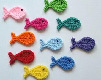 Instant Pdf File Crochet Fish Applique Pattern By Adirondack