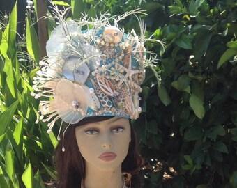 Moana Princess Natural Sea Shells Headpiece. Tahitian & Cook Islands Dancers Headdress! Children, Teens, Adults Dancers, Gifts, Decorations.