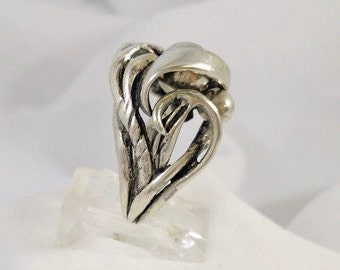 Sterling Silver Ring Free Form Organic Style Vintage Handmade On Of A Kind Tracy B Designs Estate Jewelry