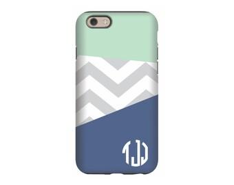 iPhone case, Color Block Navy, iPhone 5 case, iPhone tough case, iPhone snap on case, 3d iPhone case