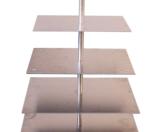 Aluminium cake stand Tortenetagere wedding 5-storey rectangular 15 x 30-20 x 35-25 x 40-30 x 45 - 35 x 50 cm square cake stand wedding