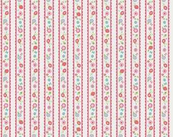 Butterflies & Berries Fabric Collection by Riley Blake Designs - By The Yard - Border print on white - C