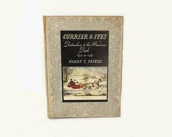 1942 Currier & Ives Illustrated HC Book, Printmakers to American People with Engraving Plates and Prints, Special Edition by Harry Peters