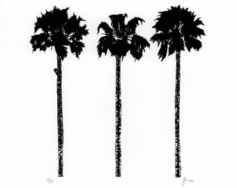Palm Trees Screen Print