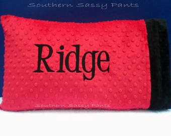 Personalized Gift for Kids,  Custom Name Pillowcase, Monogrammed Gifts for Children, Standard Minky Pillow Case, Any Color Combination