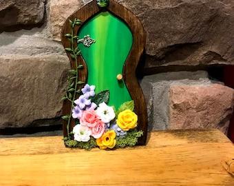 Flower Fairy Door, Indoor Outdoor Accessory