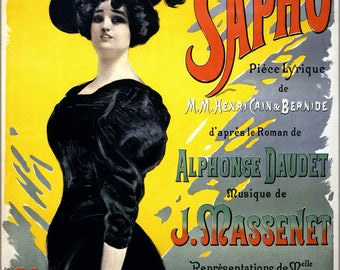 Poster, Many Sizes Available; Jean De Paleologu Jules Massenet Sapho