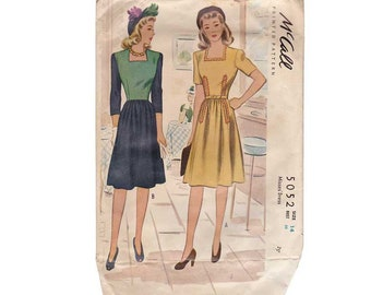 Vintage Sewing Pattern - McCall 5052 - Ladies - Size 14