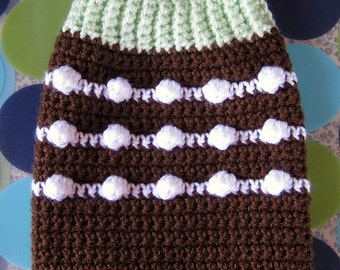 Size  XS - Dog Sweater Vest - Chocolate Mint Cupcake - Ready to Ship Today