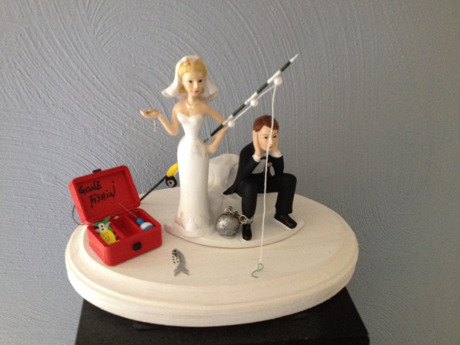 Wedding cake topper ball and chain key funny humorous going zoom junglespirit Gallery