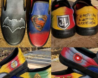 Justice League Hand Painted Sneakers