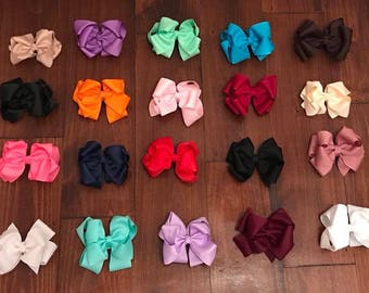"4"" Double Stacked Hairbow"