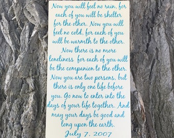 Apache Wedding Blessing - Apache Wedding Prayer Wood Sign - Wedding Gift for the Couple - Wooden Sign - Personalized Anniversary Gifts