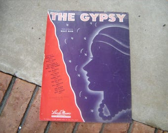 1945  vintage sheet music  (  the gypsy  )
