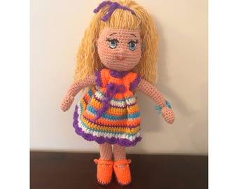 Nefelie Doll / Crochet Doll / Amigurumi Doll /Handmade / Unique