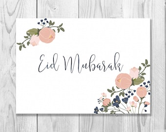 Printable Eid Mubarak Card - Eid Greeting Card - Happy Eid - Islamic Cards - Muslim Cards - Islamic Greetings - Instant Download