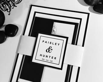 BLACK and WHITE - Wedding Invitation