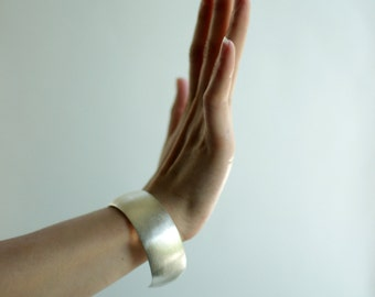 Silver Cuff Bracelet -Silver Bracelet-Wide Silver Bracelet-Wide Sterling Cuff  Bracelet-Hammered Silver Bracelet-Hammered Silver Jewellry