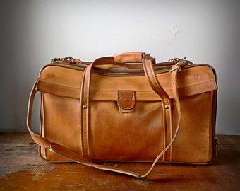 Vintage Hartmann Belting Leather Weekender Bag, Carry On Luggage