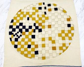 Mid Century Modern Textile Fiber Art Woven Tapestry