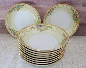 Meito China Dessert Bowls, N1065A, Set of 11 Small Meito China Bowls, Handpainted Meito China, Small China Bowls, MEIN1065A - V335