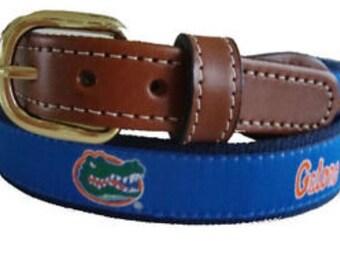 University of Florida Gators men's Web Leather Belt
