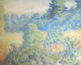 John Peter Russell Rare Antique Original Australian Post Impressionist of Belle-Île Brittany France Landscape Oil Painting