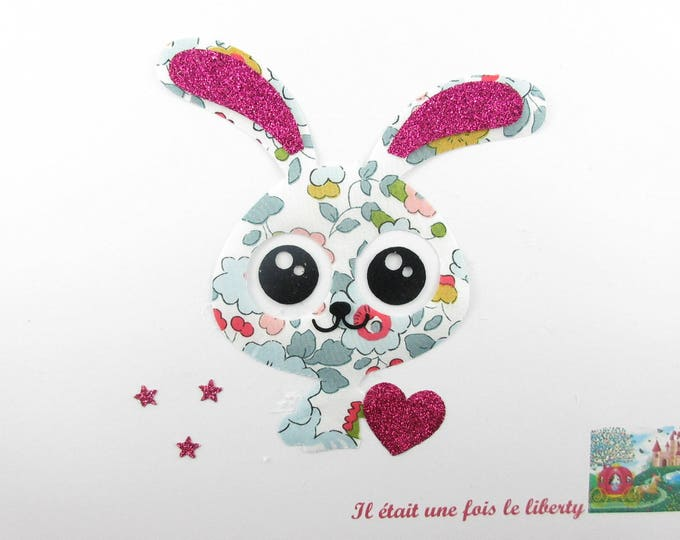 Applied fusing funny Bunny fabric liberty Betsy porcelain flex glittery atch iron fusible pattern liberty badges