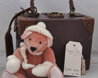 Peggy-Sue - Handmade Mohair Artist Bear OOAK